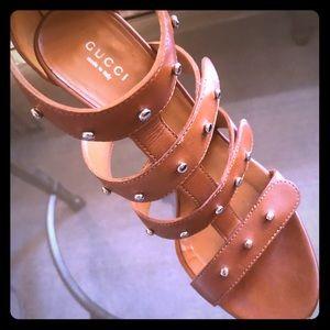Gucci Sigourney Studded Sandals 37.5